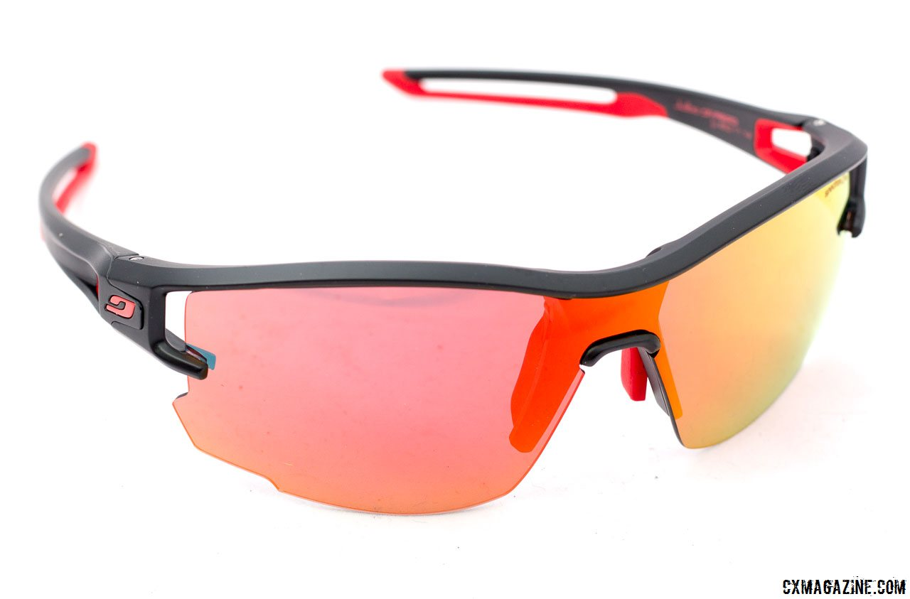 Julbo Aero vented sunglasses with the Spectron red mirrored lens. ©  Cyclocross Magazine d16fe109c2