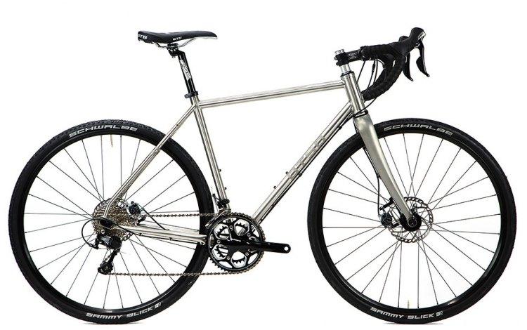 Otso Cycles stainless steel Warakin drop bar cyclocross / gravel bike. © Cyclocross Magazine