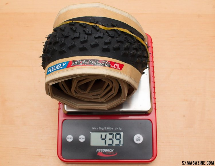 Ritchey's discontinued 38c Mount Cross tire was of similar weight, tread, and volume. © Cyclocross Magazine