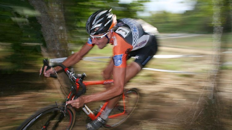 Ryan Trebon racing in Seattle in 2008, prior to winning the 2008 Nationals in Kansas City. © Cyclocross Magazine