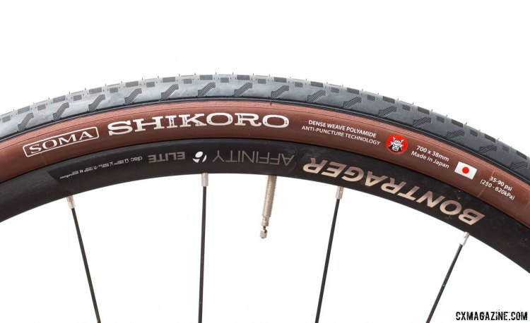 Soma Fab Shikoro 38c road/gravel tire, made in Japan by Panaracer, comes in five different widths. © Cyclocross Magazine