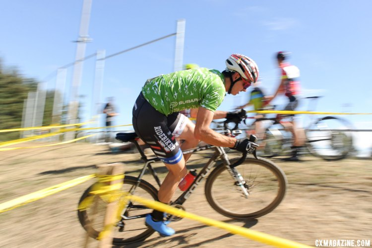 Riders had to navigate the bumpy pothole-filled course at stop #2 of the MFG Cyclocross Series. © Geoffrey Crofoot