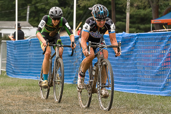 The ageless Laura Van Gilder ahead of Julie Wright - 11th Annual 2016 Nittany Lion Cross Day 2. Breinigsville, PA © Todd Leister \ Leister Images