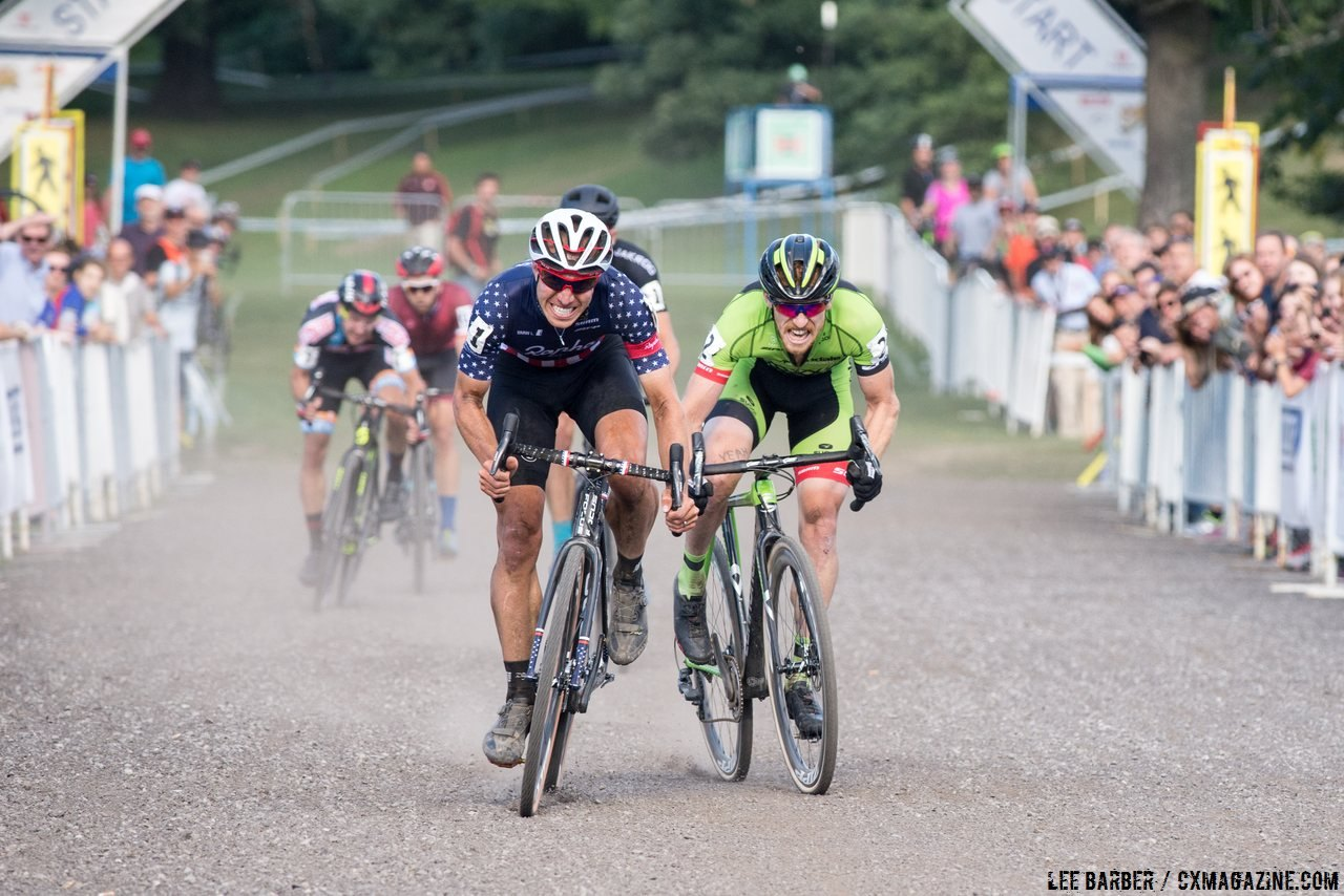Powers and Hyde went to the line in 2016. Rochester Cyclocross 2016, Day 2, Elite Men. © Lee Barber