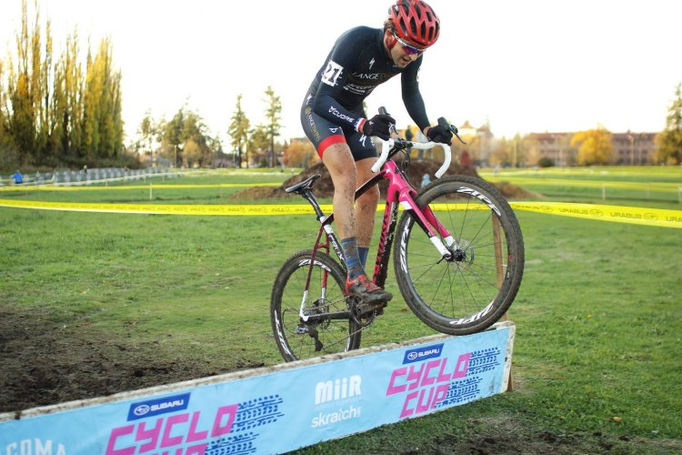 Cody Kaiser hops up to race the U.S. World Cups this year as his LangeTwins Family Winery racing program progresses. © Jeff Namba