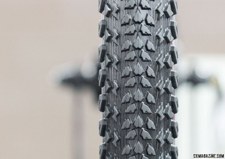 The CST Tirent is a 40c gravel tire from CST. Wire bead only. Under $40. Interbike 2016 © Cyclocross Magazine