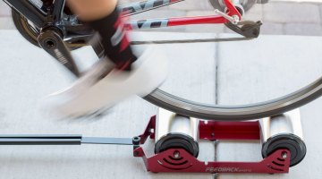 Feedback Sports' Omnium Trainer makes it easy to get a quick workout or warm-up while traveling. © Cyclocross Magazine
