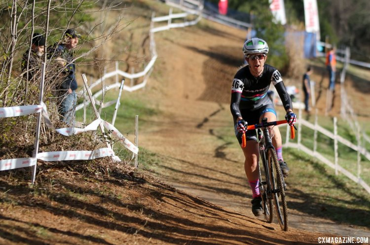 Jessica Cutler races to develop talented young women cyclocross racers from the Pacific Northwest. photo: racing to second - Singlespeed Women, 2016 Cyclocross National Championships. © Cyclocross Magazine