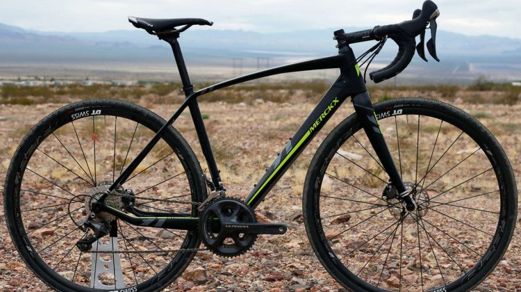 The 2017 Eddy Merckx Strassbourg 71 carbon gravel bike retails for $4,999 USD. © Cyclocross Magazine