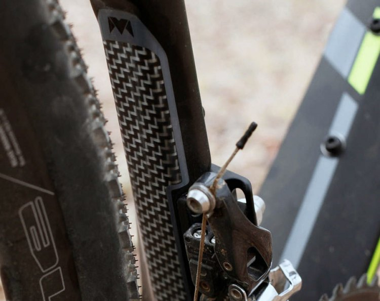 The kevlar lining makes another appearance on the back of the seat tube. © Cyclocross Magazine