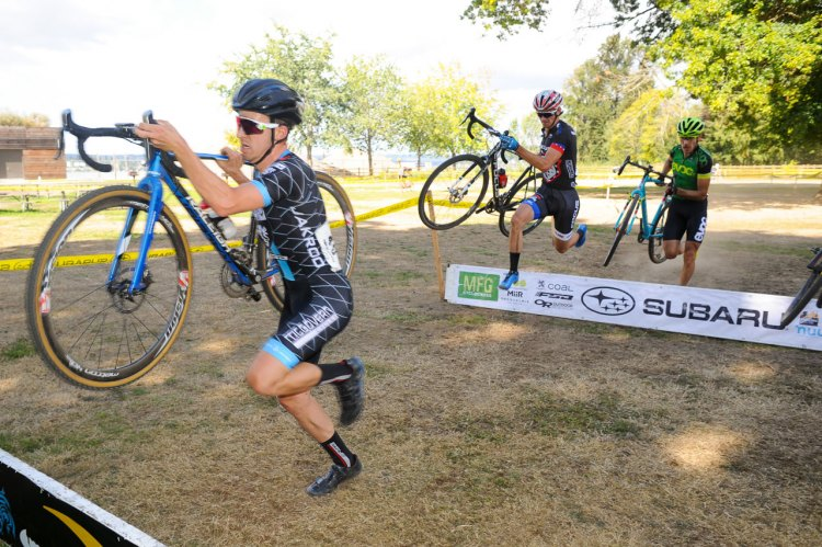 Steve Fisher, back from China, leads 2016 MFG Cyclocross Race #1 - Lake Sammamish © Geoffrey Crofoot