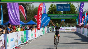 Victory for Ceylin Alvarado in her first ever UCI C1 win at the Qiansen Trophy 2016