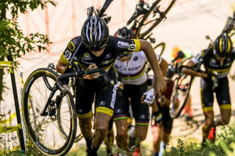 The Telenet - Fidea train did its best to overthrow the World Champ, but it was in vain. Elite Men, 2016 Trek CXC Cup Day 2 © Jeff Corcoran