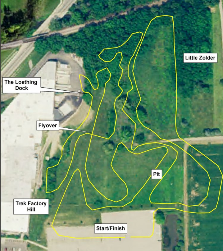 The course map. 2016 Trek CXC Cup cyclocross course preview. © Zachary Schuster