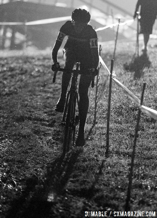Wyman in control. 2016 Jingle Cross Day 1 Cyclocross Night Race. © D. Mable / Cyclocross Magazine