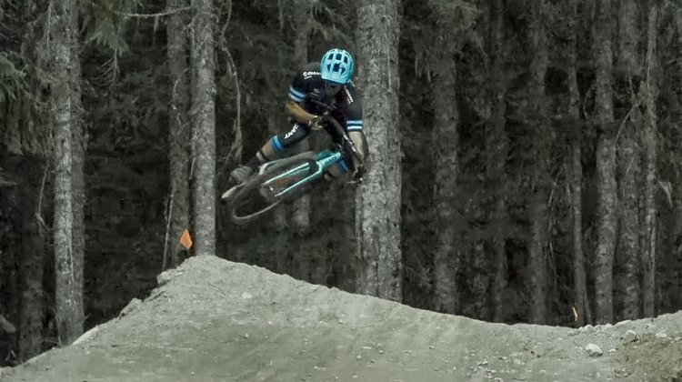 Yoann Barelli and Quentin Emeriau tear up Whistler on their cyclocross bikes.