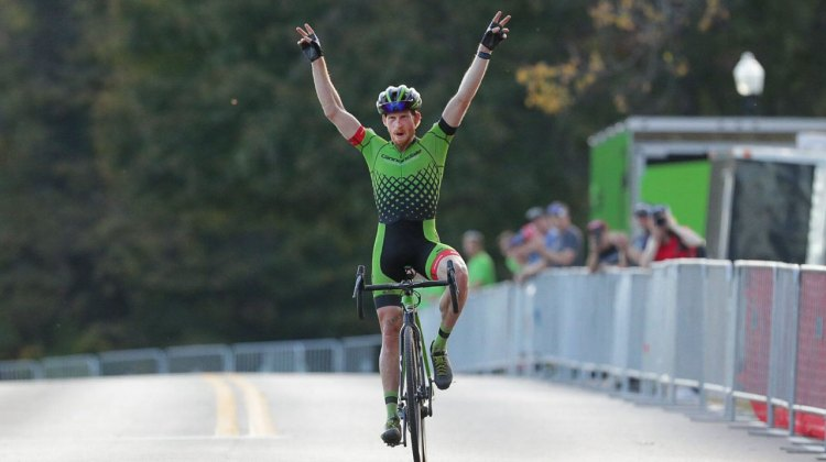 Stephen Hyde solos to victory in the final lap after a hard fought battle with Jeremy Powers. 2016 Pan American Cyclocross Championships © Kent Baumgardt