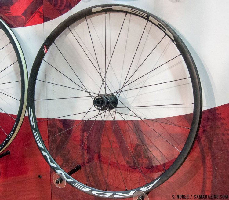 Rims on disc-specific wheelsets are sometimes the same as rim brake versions, just without rim machining. HED's Tubular Ardennes SL wheel set has a disc-specific extrusion, which allows for the rim to be lighter in the areas where the braking surface would be for cantilevers. This material reduction is visible in this image. © C. Noble / Cyclocross Magazine