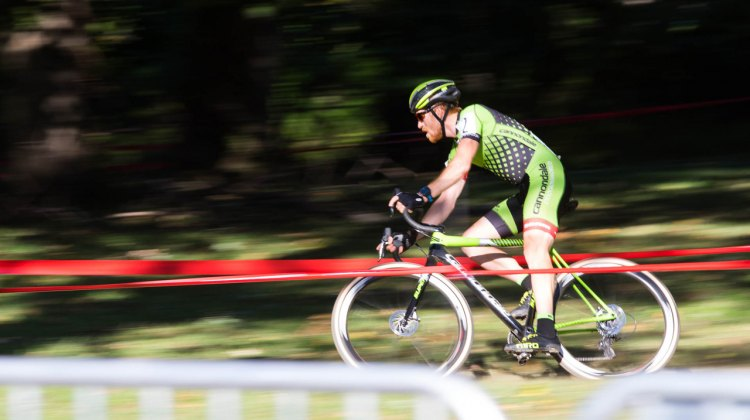 Stephen Hyde at full speed - Charm City Cross 2016. © Ricoh Riott