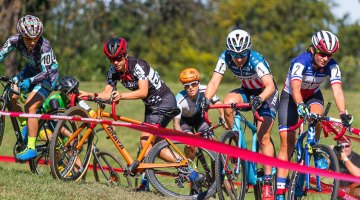 Early race chaos at Charm City Day 2 - UCI C1 - Elite Women. © Ricoh Riott