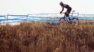 Verona, Wisconsin's Badger Prairie park never fails to deliver top-level cyclocross racing. 2012 Nationals, Masters 45-49. © Cyclocross Magazine