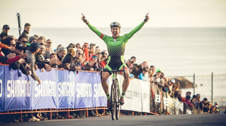 Curtis White rode away for the win on day 1 for the Elite Men. 2016 GP of Gloucester Day 1. photo: Angelica Dixon