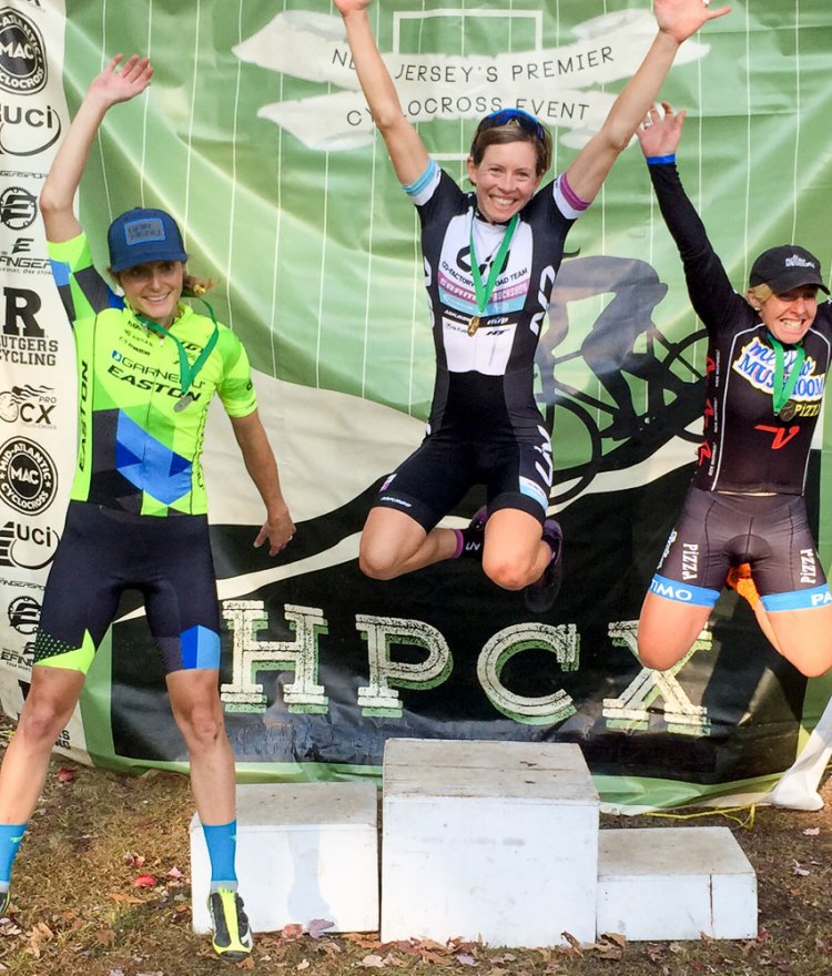 2016 HPCX Day 2. Gordon celebrates her win with Elliott and Van Gilder.