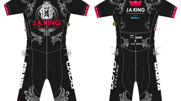 J.A. King p/b BlueRidge 'Cross team skinsuit