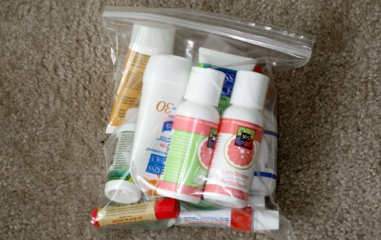 A simple 1-quart Ziploc bag can work well to store all your toiletries. If you ever fly to races, having your toiletries comply with TSA regulations makes life easier, keeping them under 3.4 ounces and all within a 1 quart bag. photo: Jack Kennard