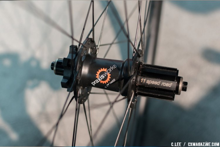 The Praxis hub developed with DT Swiss. No Center lock option for now. © Cliff Lee