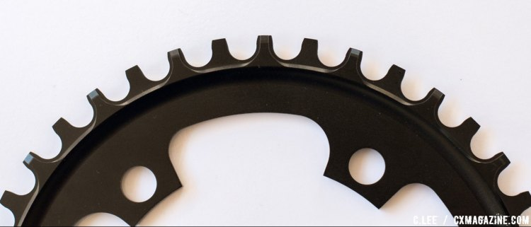 Backside of Praxis Wave Technology chainring © Cliff Lee