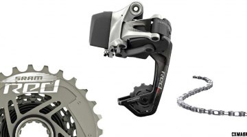 SRAM RED eTap WiFli upgrade kit: RED 11-speed chain, XG1190 11-32 cassette, RED eTap WiFli rear derailleur.