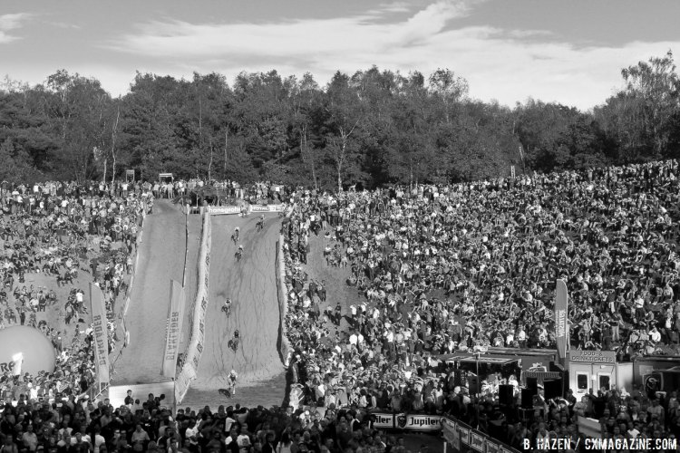 The stadium of cyclocross. 2016 Superprestige Zonhoven - men's race. © Bart Hazen / Cyclocross Magazine