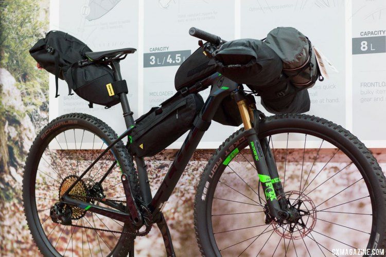 Topeak has entered the bikepacking market, and has frame bags, saddle bags and handlebar options to carry all you need for an overnight adventure. © Cyclocross Magazine