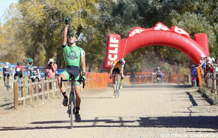 Hecht wins his first U23 race at the US Open of Cyclocross Day 2. © Cathy Fegan Kim / Cyclocross Magazine