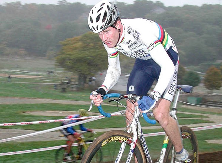 Erwin Vervecken came to GP Gloucester in 2001 as World Champion and cleaned up with back-to-back wins. photo: Mark Abramson