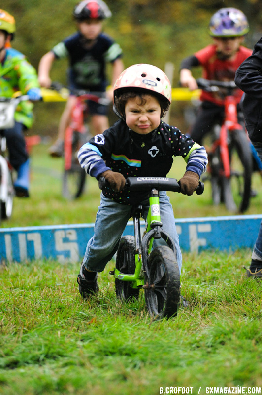 """This little cross racer sports an awesome """"race face""""! © Geoffrey Crofoot"""