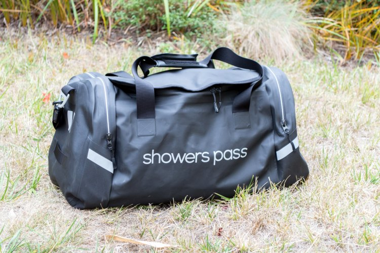 The Refuge waterproof duffel bag from Showers Pass is a waterproof bag that has a 51 liter main compartment and sells for $189. C. Lee / Cyclocross Magazine