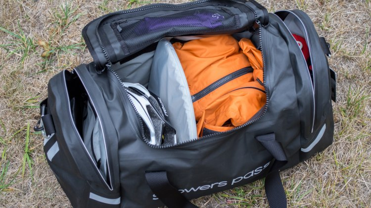 A good race day bag. Where do the shoes go? C. Lee / Cyclocross Magazine