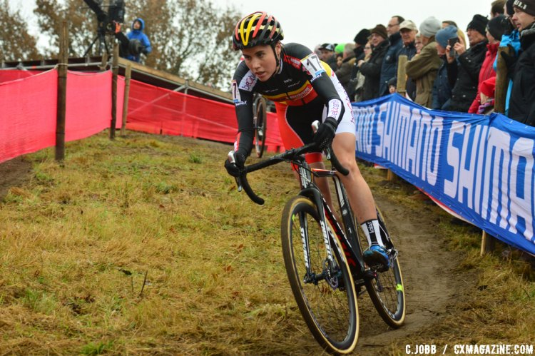 Sanne Cant had a great day in Zeven, Germany taking the win. © C. Jobb / Cyclocross Magazine