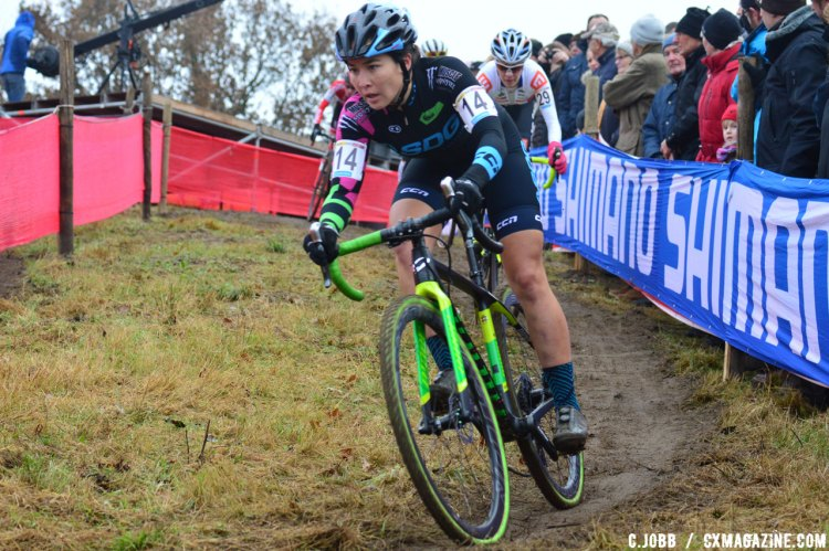 Amanda Nauman(USA) finished in 24th - 2016 Zeven UCI Cyclocross World Cup Elite Women. © C. Jobb / Cyclocross Magazine