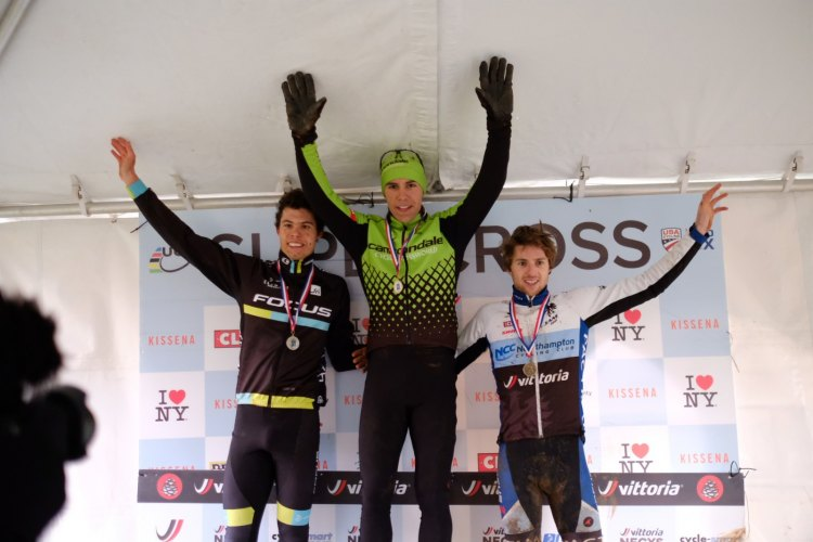 The Men's Elite C2 podium at Day 2 of the 2016 Supercross Cup. © Chris McIntosh