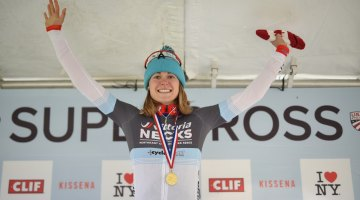 Big smiles from Maghalie Rochette on the top step of the podium. © Chris McIntosh