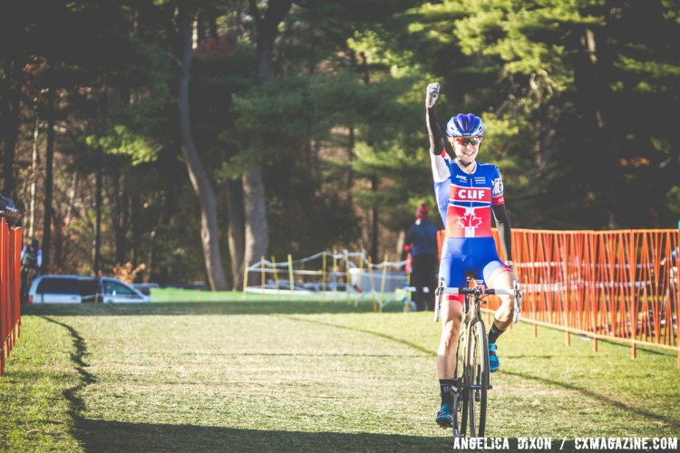 Maghalie Rochette (Clif Pro Team) took the win for the Elite Women's race. © Angelica Dixon