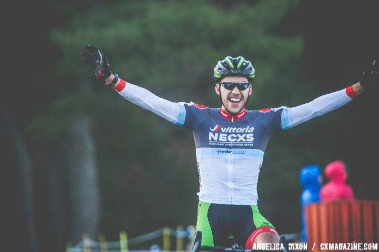 Curtis White rides away to a solo victory. © Angelica Dixon