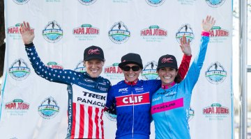 Elite Women's podium for the Derby City Cup 2016 Day 2. © Jake's Point of View