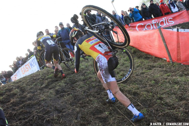 Sanne Cant at the 2016 Soudal Classics Jaarmarktcross in Niel. © B. Hazen / Cyclocross Magazine