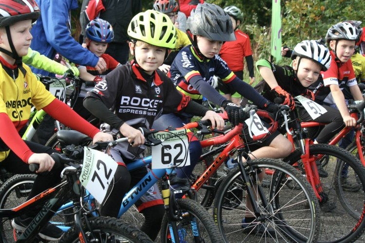 Young competitors in Sunday's Cyclocross event.