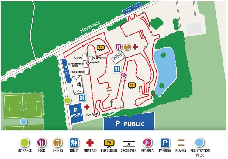 The 2016 Zeven UCI Cyclocross World Cup course map.
