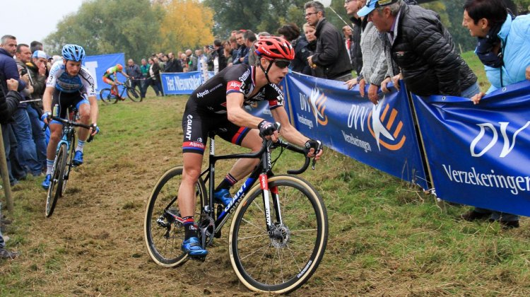 Lars van der Haar rode a patient race to finish third. Elite Men. 2016 Koppenbergcross, DVV Verzekeringen Trofee Series race #2. © B. Hazen / Cyclocross Magazine